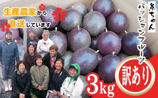 【2021年発送】糸満産 糸ちゃんパッションフルーツ<訳あり/3kg>