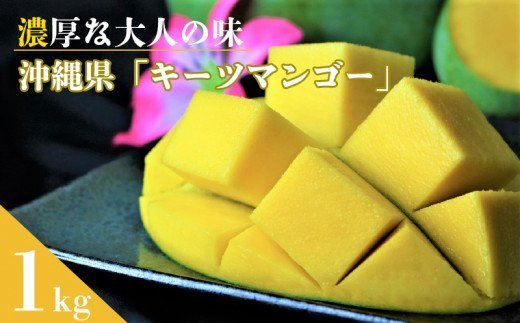 【2021年発送】濃厚な大人の味 沖縄県「キーツマンゴー」1kg