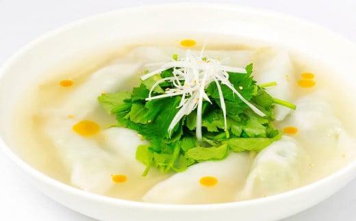葉にんにくの香りと味をより繊細に味わいたい方は、水餃子やスープ餃子がおススメです。健康面でもAGEsが抑えられるレシピです。