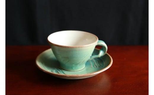 工房エクレシア コーヒーカップ&ソーサー Ocean(海と空)