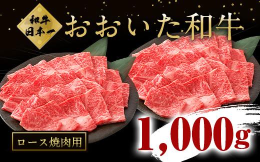 大分県竹田市産おおいた和牛 ロース 500g×2P 計1000g 焼肉用