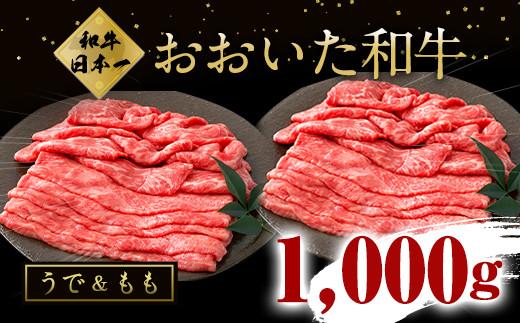 大分県竹田市産 おおいた和牛 うで もも 各250g×2P 計1000g