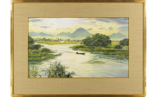 【限定】市制施行50周年記念 ブライアン・ウィリアムズ氏 作 守山市の風景「漁場に向かって」