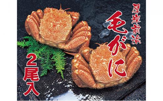 [№5863-0515]蟹屋厳選!北海道厚岸産ゆでたて冷蔵毛がに(450g~500g)×2尾