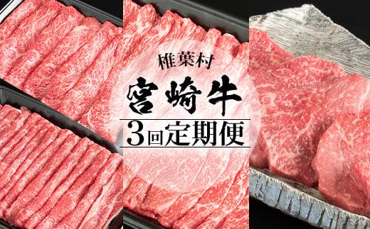 【定期便 3回】受賞歴多数!! 宮崎牛を3ヶ月で合計1.85キロ 宮崎牛づくし