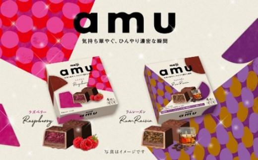C0086.【冷凍スイーツ】明治「amu (アム)」 アソート6箱