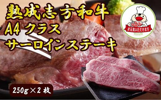 熟成志方和牛極厚切り A4クラスサーロインステーキ(250g×2枚)【ニコニコエール品】