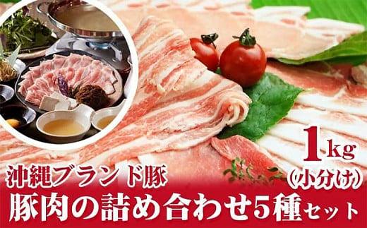 【沖縄県ブランド豚】『キビまる豚』豚肉の詰め合わせ5種セット1kg(小分け)