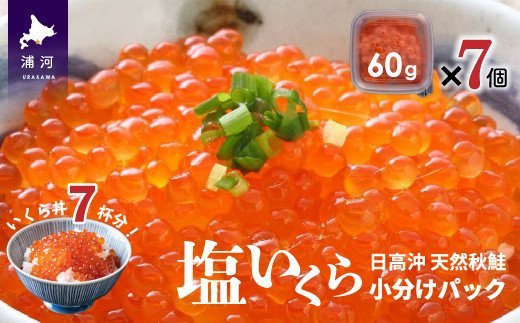 【限定!先行予約】北海道日高産 塩いくら小分けパック(60g×7) [15-542]