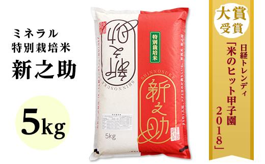 新潟県長岡産新之助 5kg(ミネラル特別栽培米)