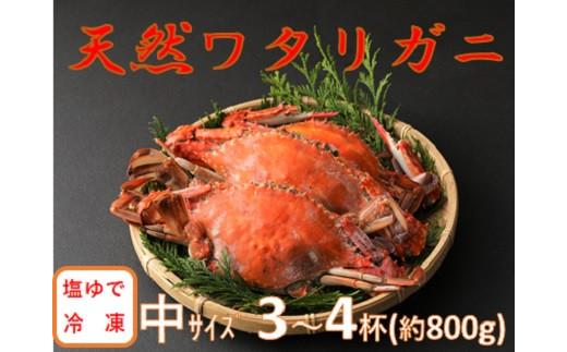 【数量限定】小祝漁港特産 天然ワタリガニ 塩ゆで 冷凍 3~4杯 活き締