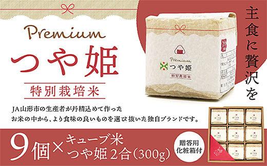 FY20-585 「プレミアムつや姫」2合キューブ米9個セット