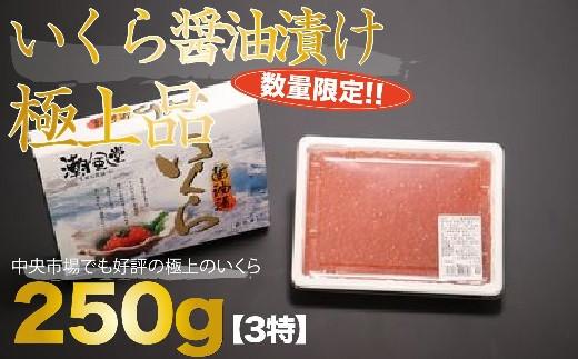 【数量限定】いくら醤油漬け 極上品 (250g)