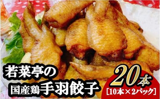 K1583 【コロナ救済品】若菜亭の「手羽先餃子」20本セット(国産)