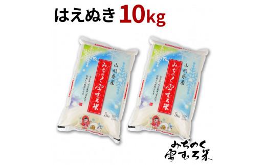 米 雪むろ米 はえぬき 10kg 2020年産 令和2年産 精米 送料無料