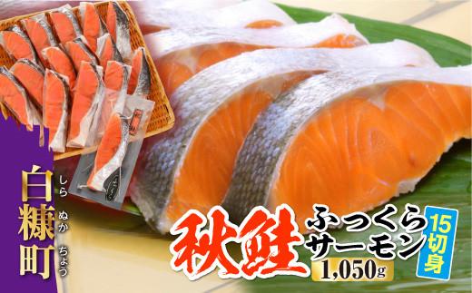 [№5723-0233]秋鮭ふっくらサーモン【15切れ入り(1050g)】