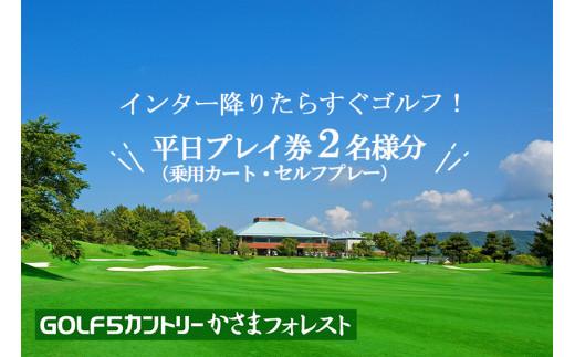 DN-1 平日ご招待券(2名様用)【ゴルフ5カントリーかさまフォレスト】