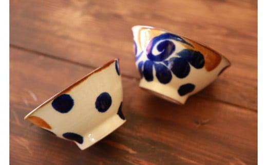 【伝統工芸】やちむんカフェ器人 4寸マカイ2個セット