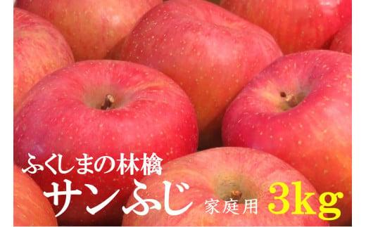 No.1091 【家庭用】りんご サンふじ 3kg 林檎 リンゴ