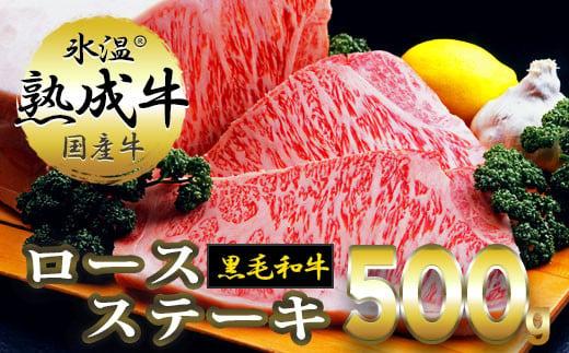 020C070 氷温(R)熟成牛 ロースステーキ【黒毛和牛】(2枚で合計500g)
