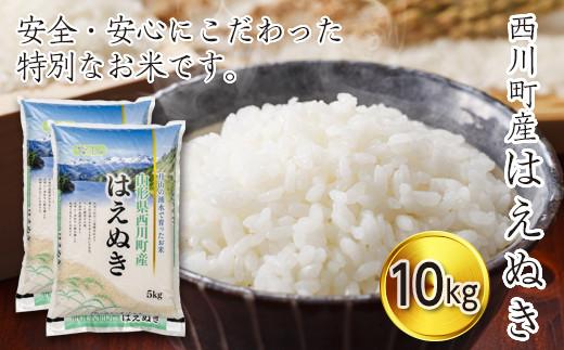 FYN9-266 令和2年度 山形県西川町産米 はえぬき10kg(5kg×2)