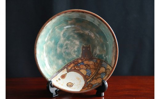 【伝統工芸】おなが家 皿 空飛ぶ魚