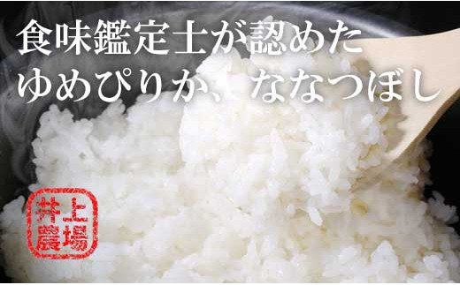 【12ヵ月定期便】食味鑑定士認定 北海道 井上農場ゆめぴりかとななつぼしのセット10㎏×12ヶ月 02_Y001