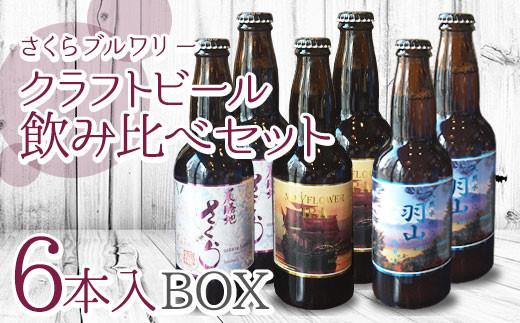 さくらブルワリー クラフトビール 飲み比べセット6本入BOX