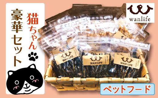 20-801.WANLIFEの猫ちゃん豪華セット【ペットフード】