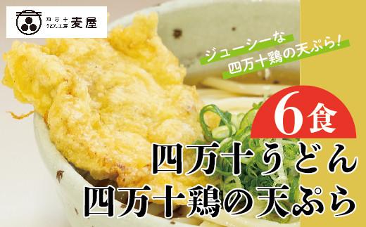 20-798.四万十うどんと四万十鶏の天ぷら6食セット