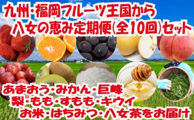 九州・福岡からお届け!八女の恵み定期便【全10回】 A