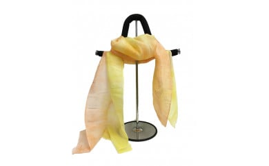 ぼかし染めストール 黄色×オレンジ系