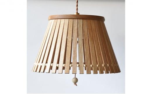 [№5787-0485]【YARN】ウッドビーズシリーズ スリットからこぼれる光が美しいランプ【L】