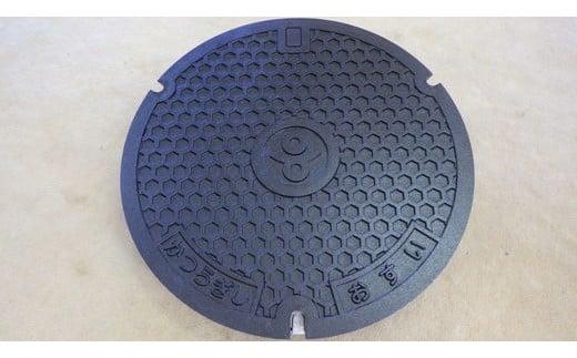 奈良県葛城市 和柄亀甲デザイン 未使用マンホール鉄蓋