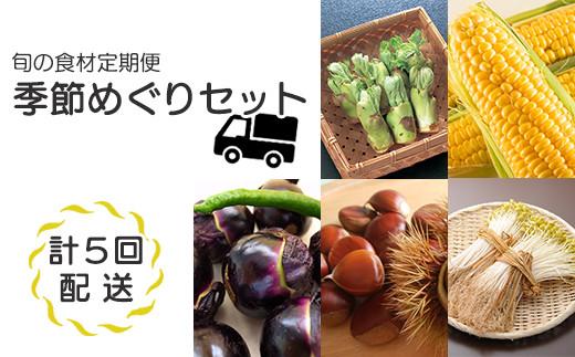 R3年産先行受付【定期便 5回】 旬の食材をお届け! 野菜 米 詰合せセット 季節めぐりセット (2021年産)