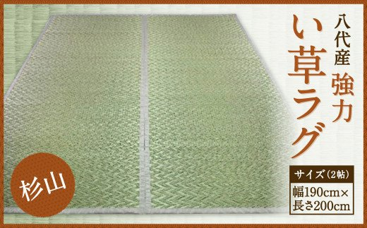 酒井農産 強力い草ラグ【杉山】2帖 幅190cm×長200cm い草