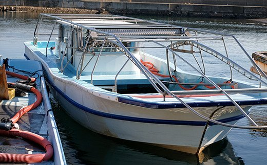 「もぐり船」と呼ばれる海苔の収穫船