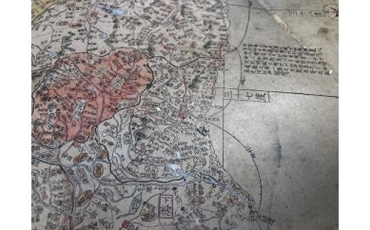 原寸大で作成されているため、各地の地名がはっきりと見ることができます(茨城県付近)。