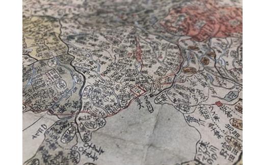 原寸大で作成されているため、各地の地名がはっきりと見ることができます(東京都付近)。