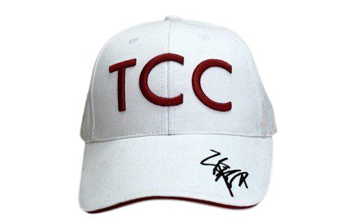 [№5900-0216]福永祐一騎手×TCCコラボ限定チャリティキャップ白+TCCセラピーパーク見学体験ツアー