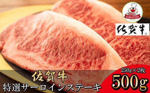 J379【数量限定】佐賀牛サーロインステーキ 合計500g(250g×2P)