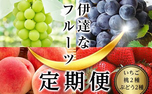 【先行予約】伊達なフル-ツ定期便(いちご・桃2種・ぶどう2種) F20C-322