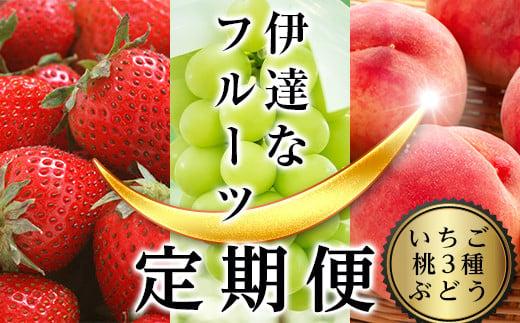 【先行予約】伊達なフル-ツ定期便(いちご・桃3種・ぶどう) F20C-323