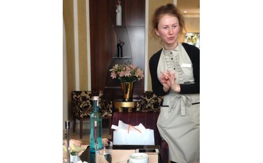 リトアニア「ケンピンスキーホテル」で提供されている様子