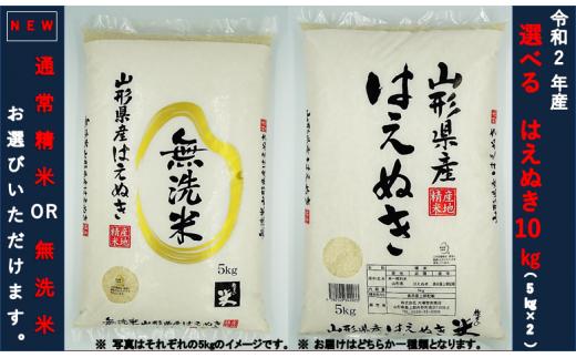 【定番人気No1】令和2年産 はえぬき10kg(5kg×2袋)