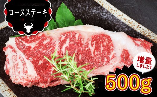 CR12 熊本県産 和牛 あか牛 ロースステーキ(500g)