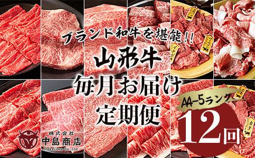 FY20-776 【定期便12回】ブランド和牛を堪能‼山形牛毎月お届け定期便