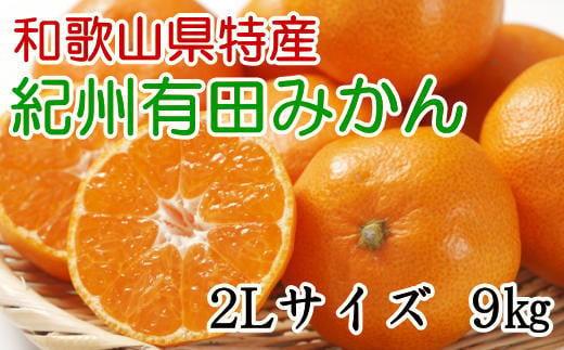 [厳選]紀州有田みかん9kg(2Lサイズ・秀品) ※2021年11月中旬より順次発送