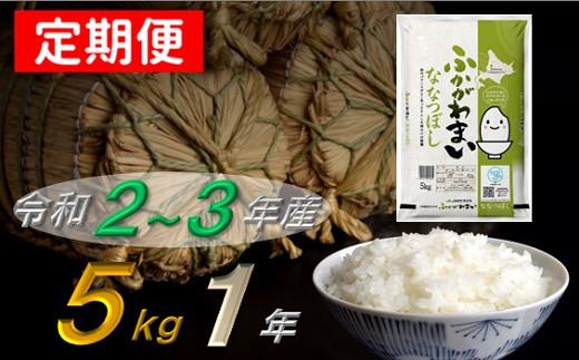 ななつぼし1年定期便(5kg×12回発送)【北海道 米 道産米】