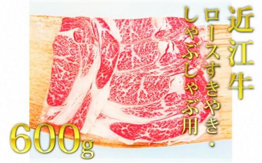 [№5900-0272]近江牛ロース(すき・しゃぶ)600g
